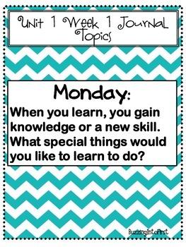 1st Grade McGraw Hill Wonders Unit 1 Morning Work Packet