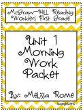 1st Grade McGraw Hill Wonders Unit 1 Morning Work Packet