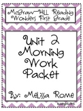 1st Grade McGraw Hill Wonders Unit 2 Morning Work Packet