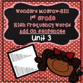 1st Grade McGraw Hill-Wonders Unit 3 Add On Sentences
