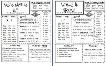 1st Grade McGraw Hill Wonders Unit 3 Anchor Chart