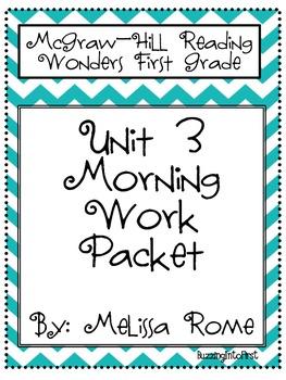 1st Grade McGraw Hill Wonders Unit 3 Morning Work Packet