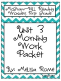 1st Grade McGraw Hill Wonders Unit 3 Morning Work Packet