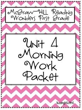 1st Grade McGraw Hill Wonders Unit 4 Morning Work Packet