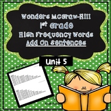1st Grade McGraw Hill-Wonders Unit 5 Add On Sentences