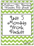 1st Grade McGraw Hill Wonders Unit 5 Morning Work Packet