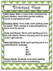 1st Grade McGraw Hill Wonders Unit 5 Morning Work Packet