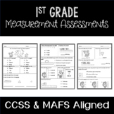 1st Grade Measurement Assessments- CCSS and MAFS Aligned