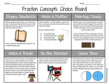 1st Grade Measurement Choice Board