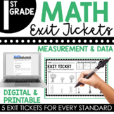 1st Grade Measurement & Data Exit Tickets (Exit Slips)
