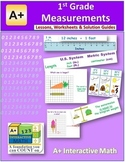 1st Grade Measurements Lessons, Worksheets and Solution Manuals