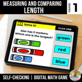 1st Grade Measuring and Comparing Length Digital Math Game