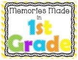 1st Grade Memories