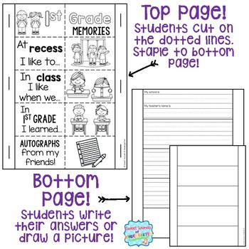 1st Grade Memory Book- 1st Grade End of the Year Flipbook