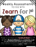 1st Grade Mission 1 Lessons 1-39 Assessments to help with Zearn