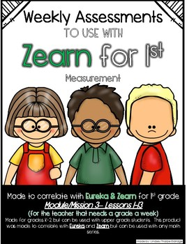 1st Grade Mission 3 Lessons 1-13 Assessments to help with Zearn