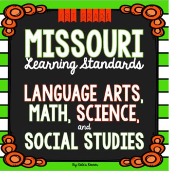 1st Grade Missouri Learning Standards