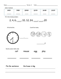 1st Grade Mixed Review Worksheets