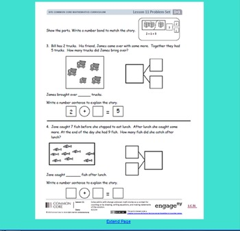 1st Grade Module 1 Lessons 11 to 15 SMARTboard Files