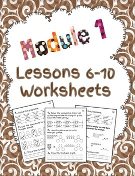 1st Grade Module 1 Lessons 6-10 Printables