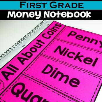 1st Grade Math Notebook:  Money