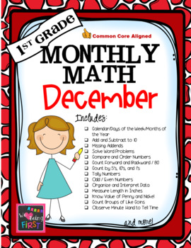1st Grade Monthly Math for December