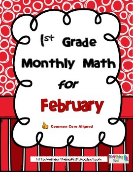 1st Grade Monthly Math for February