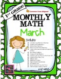 1st Grade Monthly Math for March
