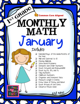 1st Grade Monthly Math for January