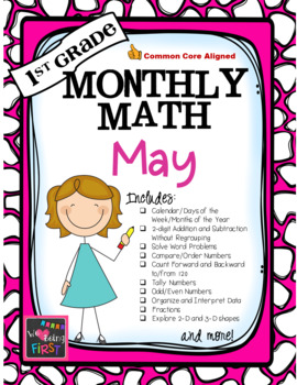 1st Grade Monthly Math for May