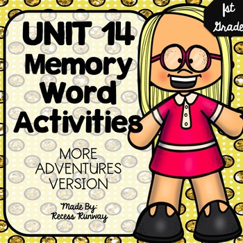 1st Grade More Adventures of the Superkids Memory Word Activities {Unit 14}