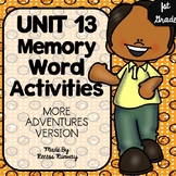1st Grade More Adventures of the Superkids Memory Word Activities {Unit 13}