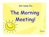 1st Grade Morning Meeting SmartBoard
