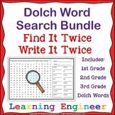 Dolch Word Search Bundle