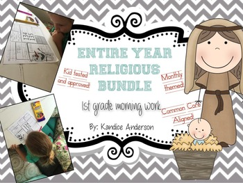 Morning Starter, Everyday Work- Entire Year- BUNDLED {Religious}