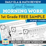 1st Grade Morning Work Free 2 Week Sample