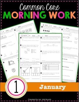 1st Grade Morning Work: January