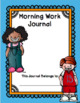 1st Grade Morning Work Journal Set 3 [third 10 weeks]