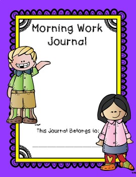 1st Grade Morning Work Journal Set 4 [fourth 10 weeks]