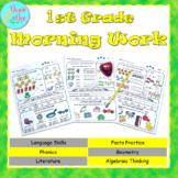 1st Grade Morning Work (Math and ELA) Google Classroom, Ea