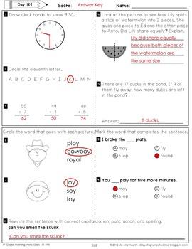 1st Grade Morning Work: May