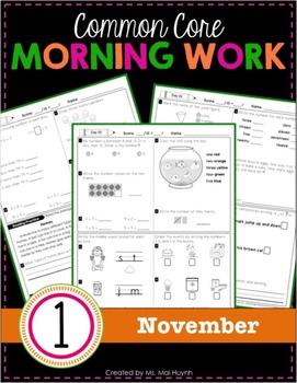 1st Grade Morning Work: November