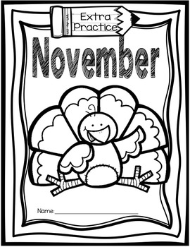 1st Grade Morning Work - November