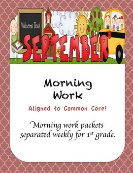 1st Grade Morning Work {September}