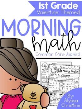 1st Grade Morning Work Valentine's Day Themed