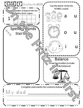 1st Grade Morning Workbook 101-120