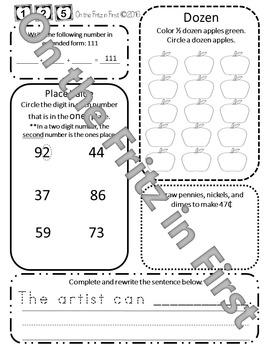 1st Grade Morning Workbook 121-140