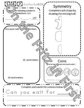 1st Grade Morning Workbook 141-160