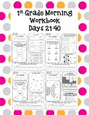 1st Grade Morning Workbook  21-40