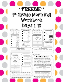 1st Grade Morning Workbook Freebie **Common Core Aligned**